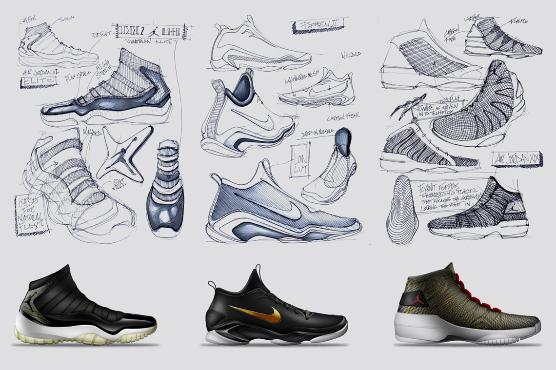 Drawn shoe design sketch basketball Brett 3 Golliff Featured Designer: