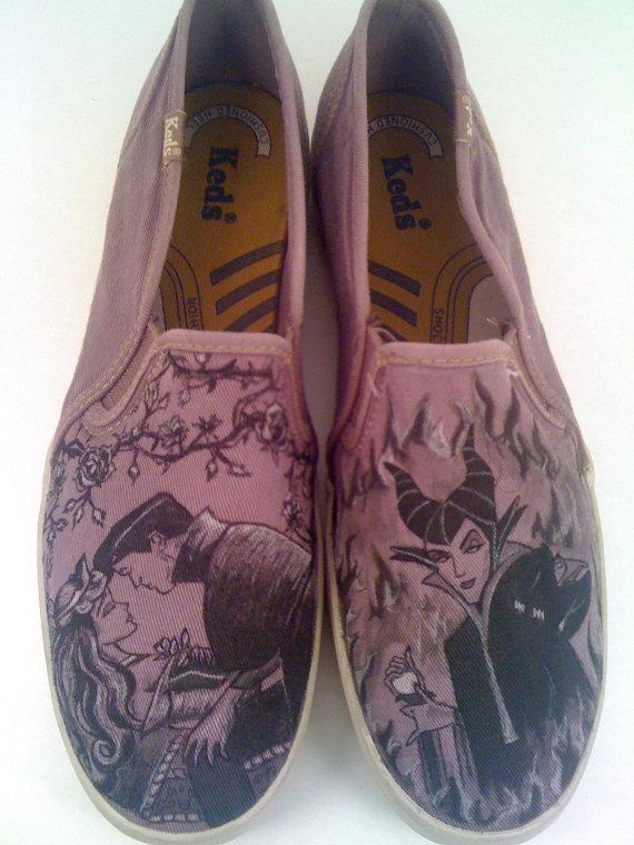 Drawn shoe disney Shoes Custom Drawn $120 Etsy