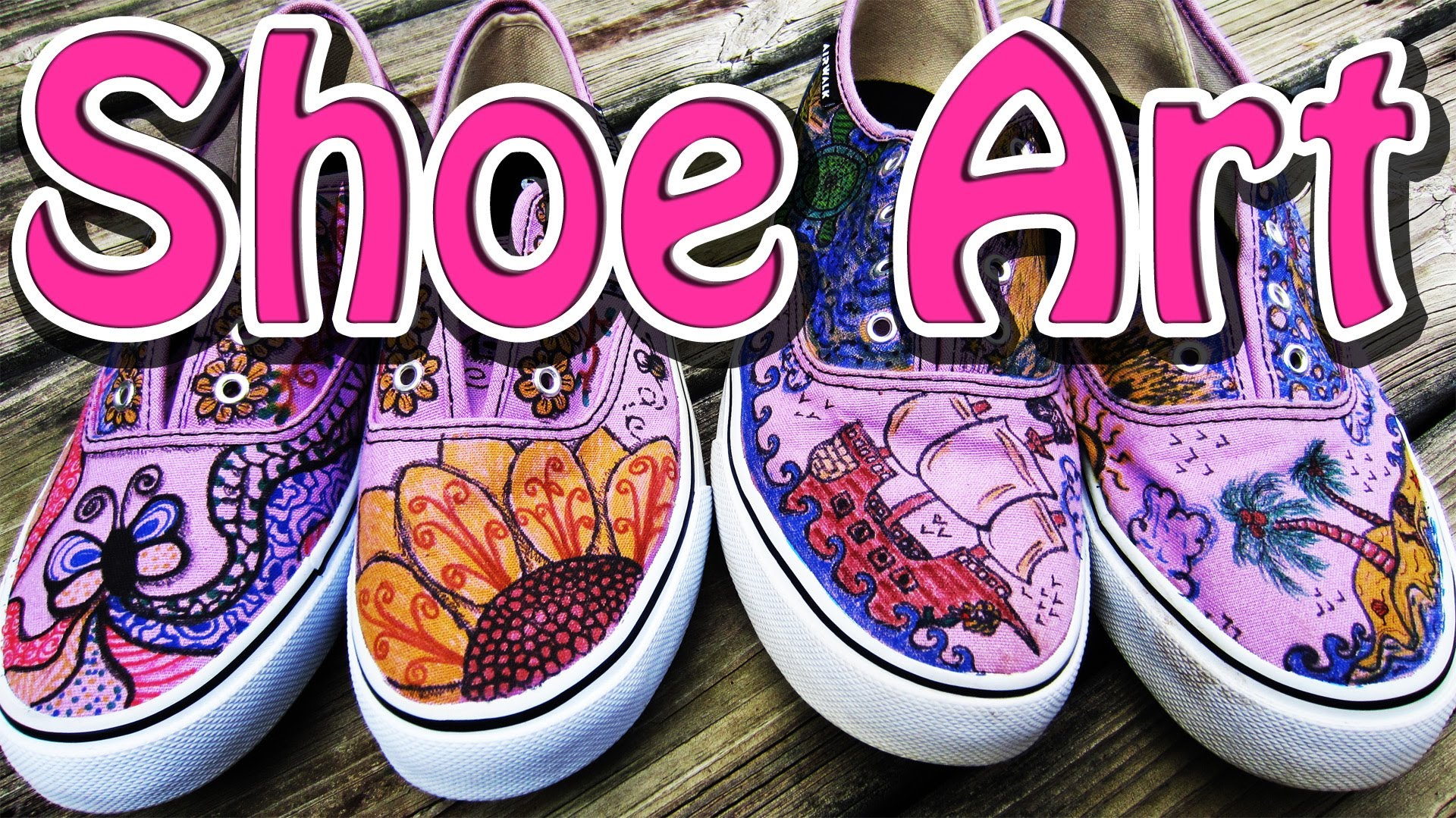 Drawn shoe diy Designs EasyMeWorld? Art For Shoes