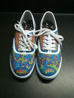 Drawn shoe diy 00 Rangers Painted Shoes Sharpie