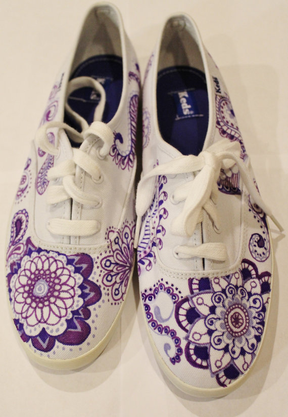 Drawn shoe diy Made #shoes #paisley Keds Keds