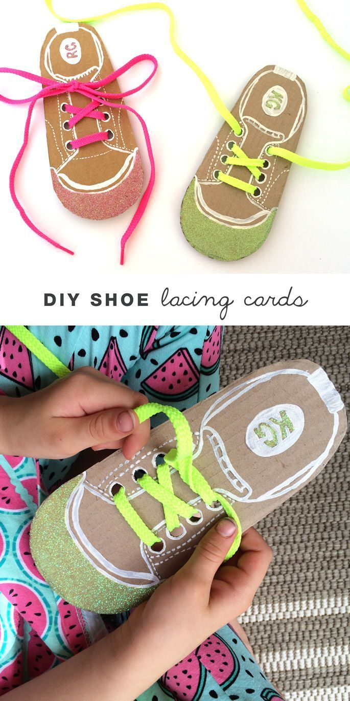 Drawn shoe diy kid Shoe lacing 25+ cards ideas