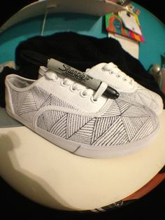 Drawn shoe diy kid Canvas shoes sharpied that c