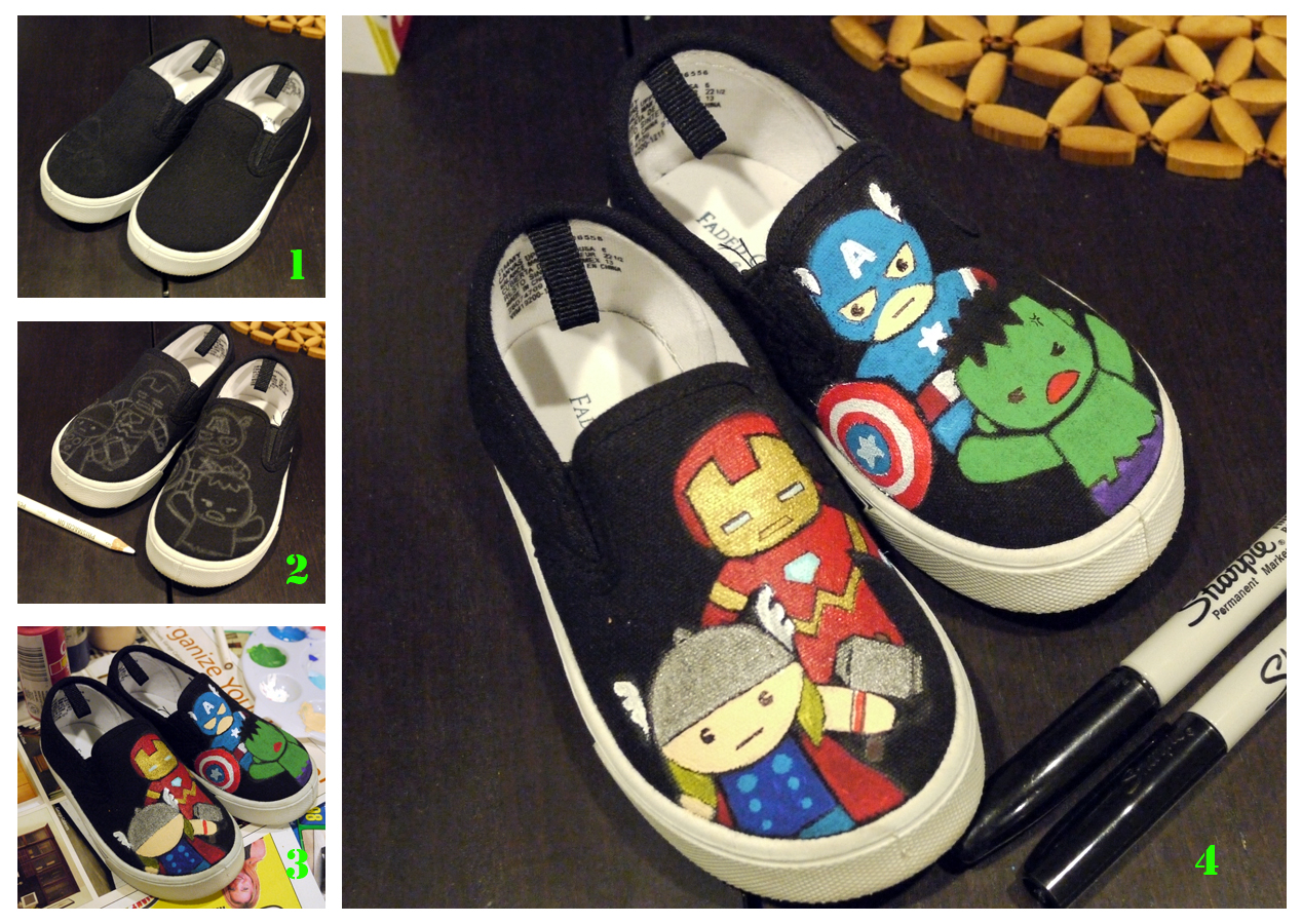 Drawn shoe diy kid 25+ best shoes Painted DIY