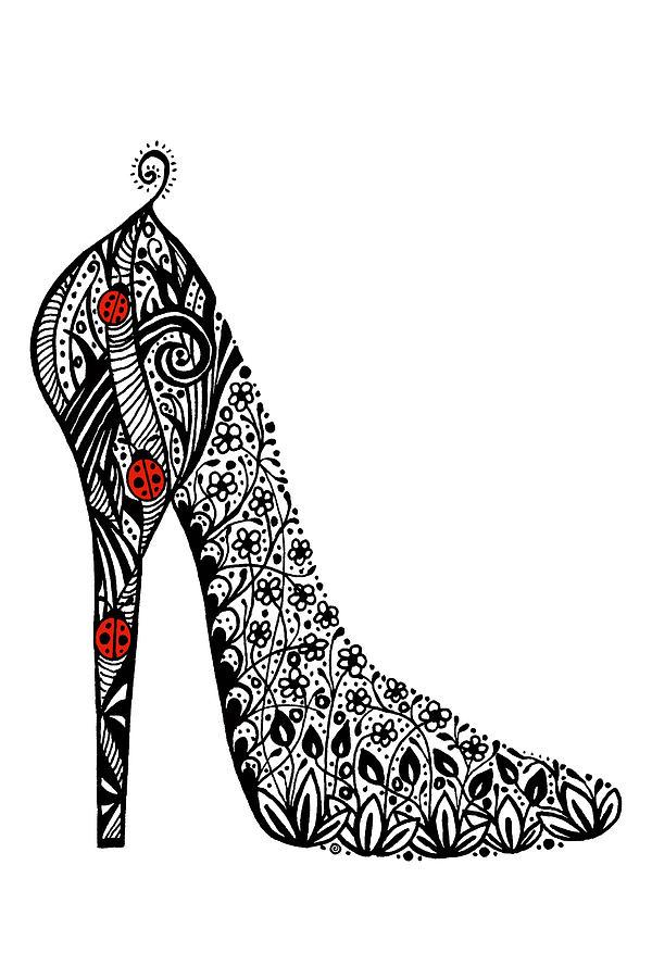 Drawn shoe doodle Shoes loves oldest granddaughter oldest