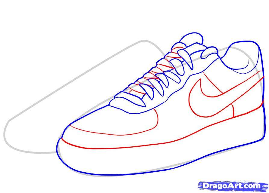 Drawn shoe drawing How Ones to Nike Air
