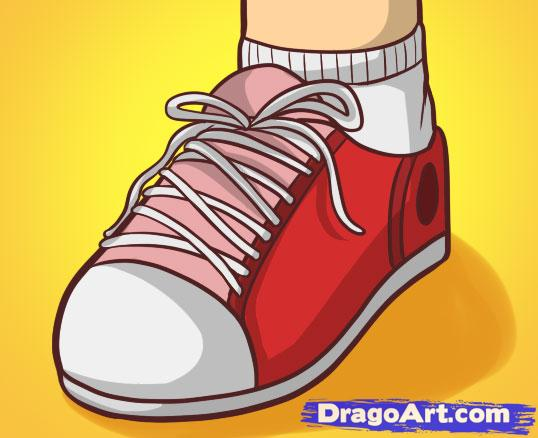 Drawn shoe drawing Step  Culture FREE to