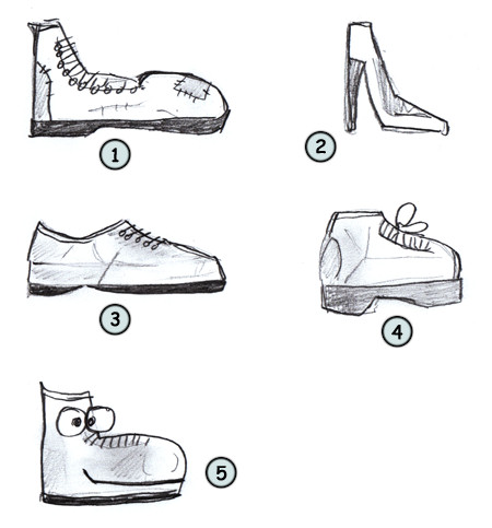 Drawn sneakers easy Shoes cartoon  Drawing
