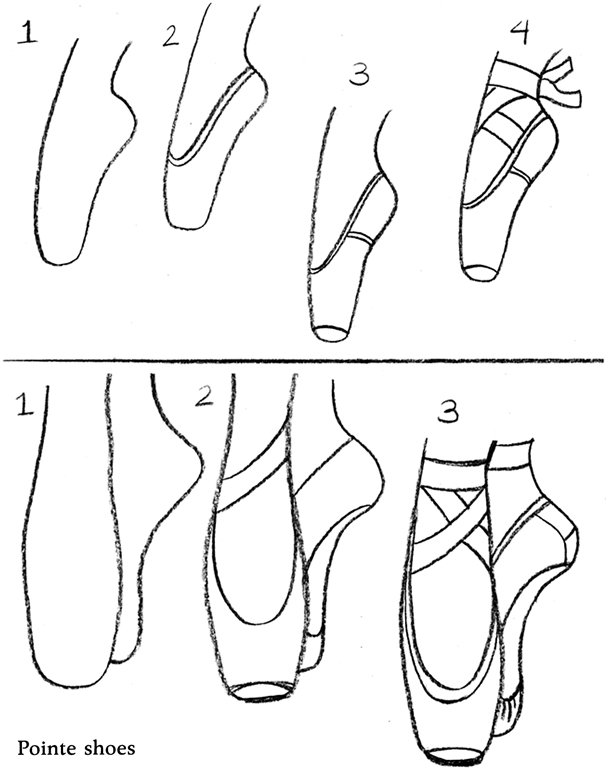 Drawn shoe easy Five Basics: Pointe Five The