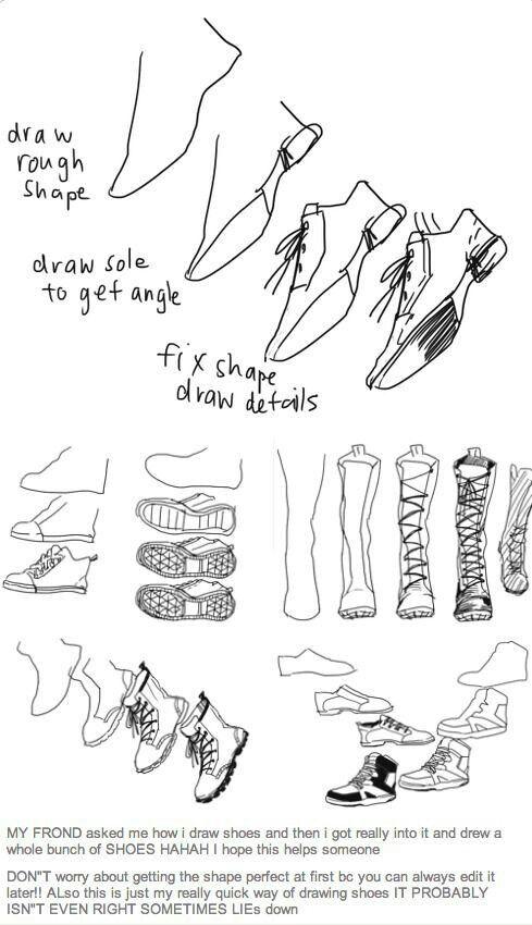 Draw Best ideas shoes Pinterest