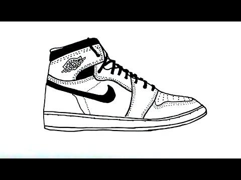Draw Shoe Jordan an YouTube