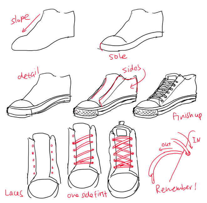 Drawn sneakers cute shoe Hope different Drawing helps alot