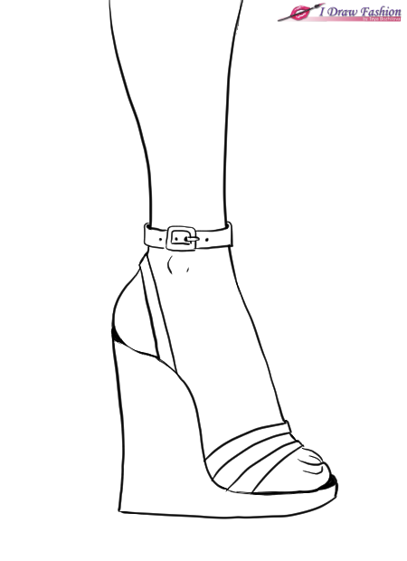 Draw design to shoes wedges