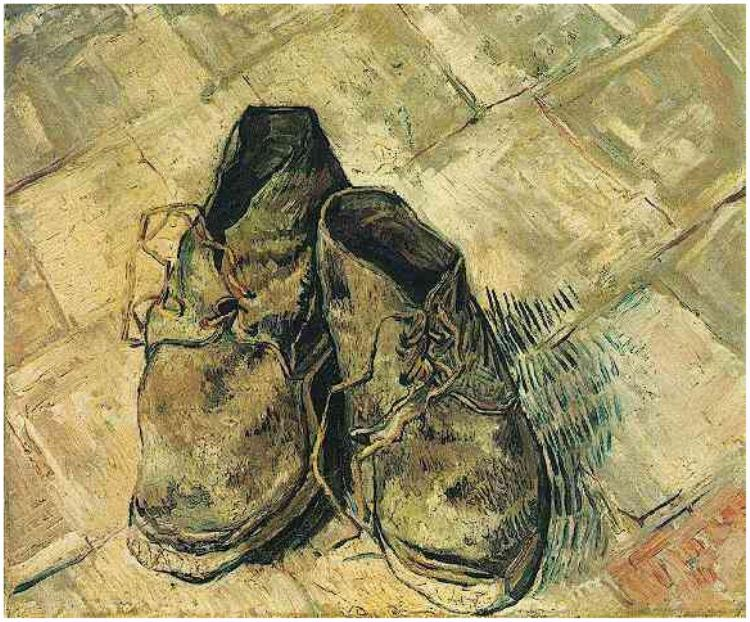 Drawn shoe famous artist Gogh Shoe Van  of