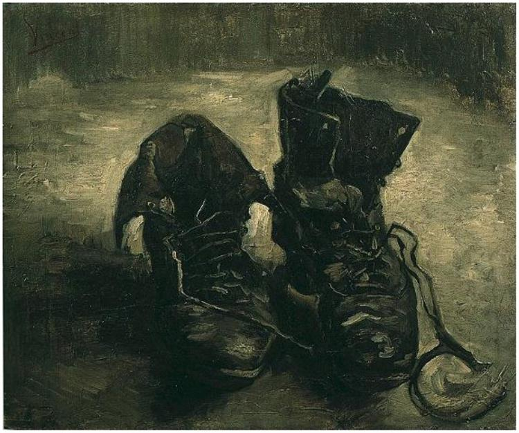 Drawn shoe famous artist Pair Van Gogh Van Shoes