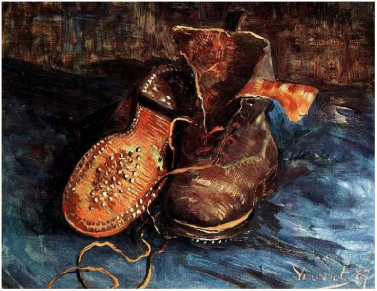 Drawn shoe famous artist Gogh Gogh Shoes Gogh Van