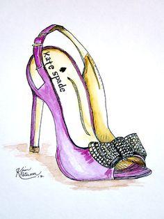 Drawn shoe fashion sketch Kate 00 & Louboutin Quote