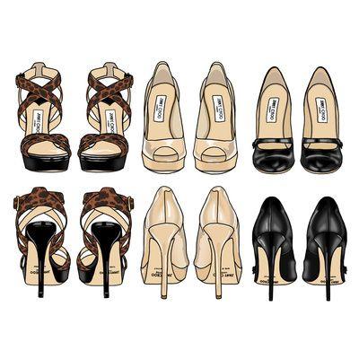 Drawn shoe fashion sketch 488 Pinterest on Sketches heels