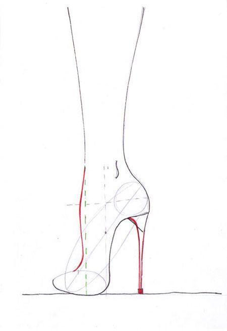 Drawn shoe fashion sketch Pin how draw Best ideas