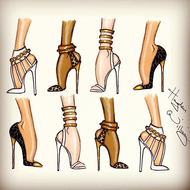 Drawn shoe fashion sketch Look ShoesShoe Best Fashion on
