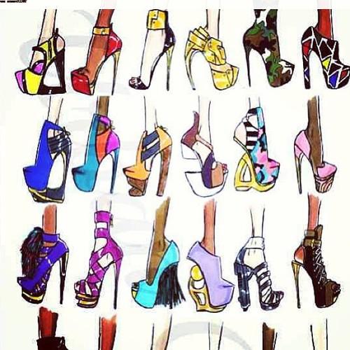 Drawn shoe fashion sketch Pin :: practise these drawing