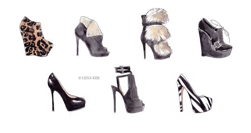 Drawn shoe fashion sketch Fashion ShoesShoesShoes!) Ker: Lena ShoesShoesShoes!)