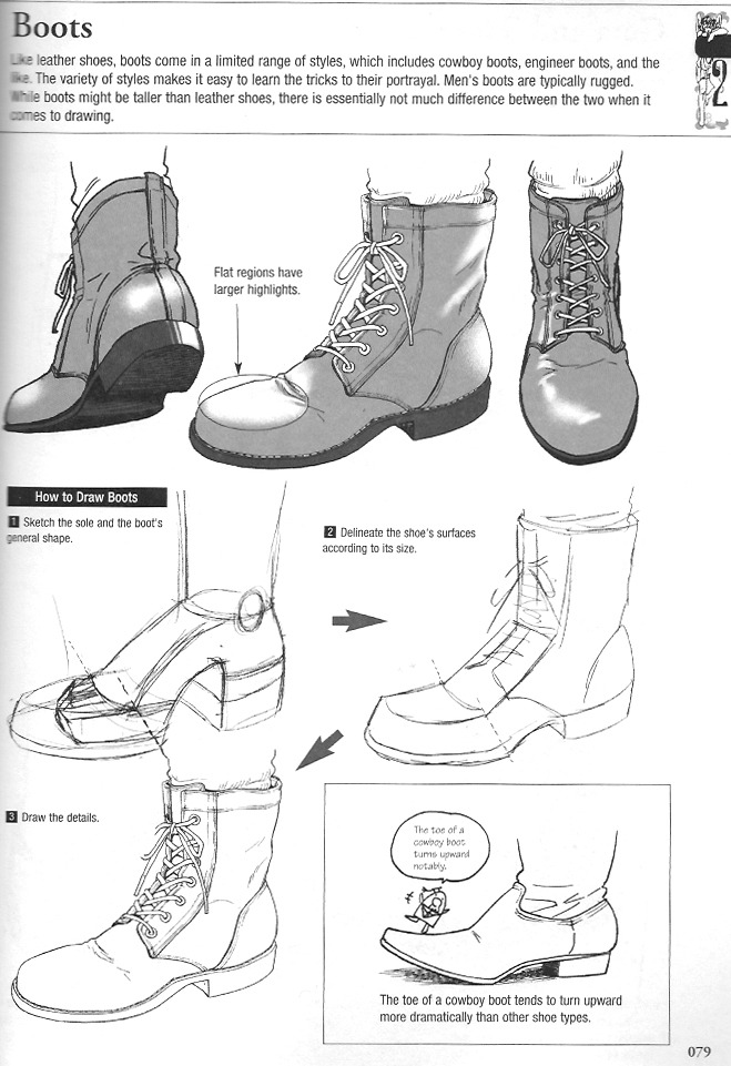 Drawn shoe foot Shoes Boots human draw tutorial