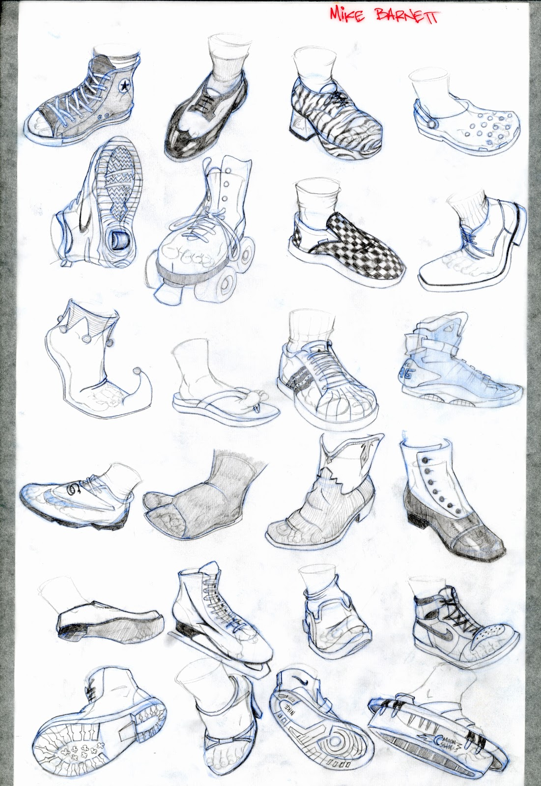 Drawn shoe foot Reference Images Human People Foot
