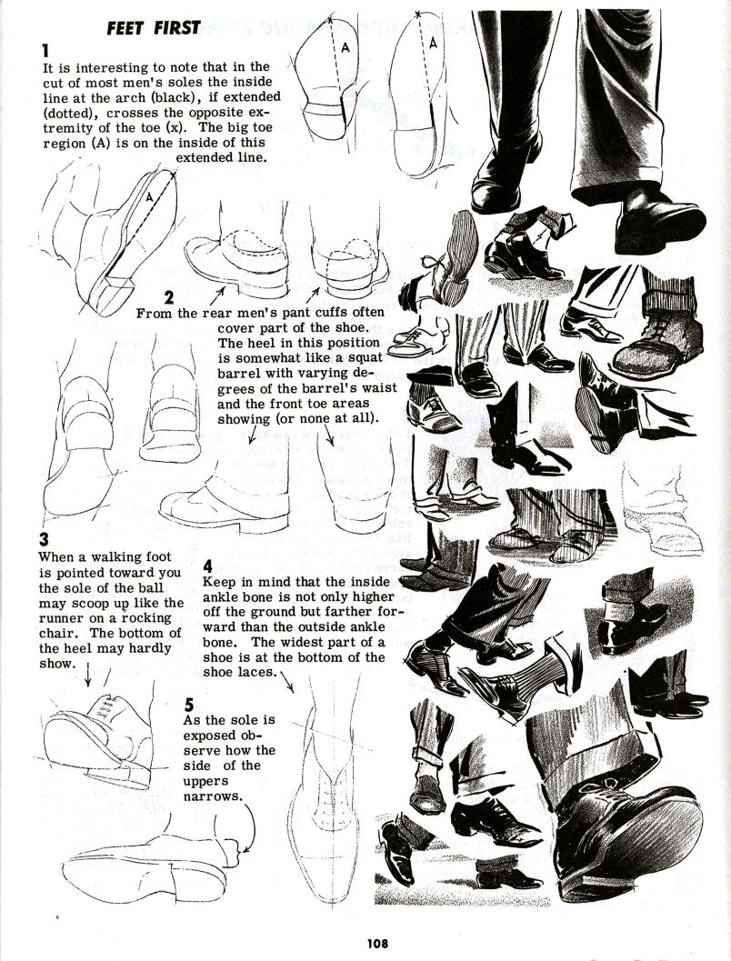 Drawn shoe foot And Design and Design Notes