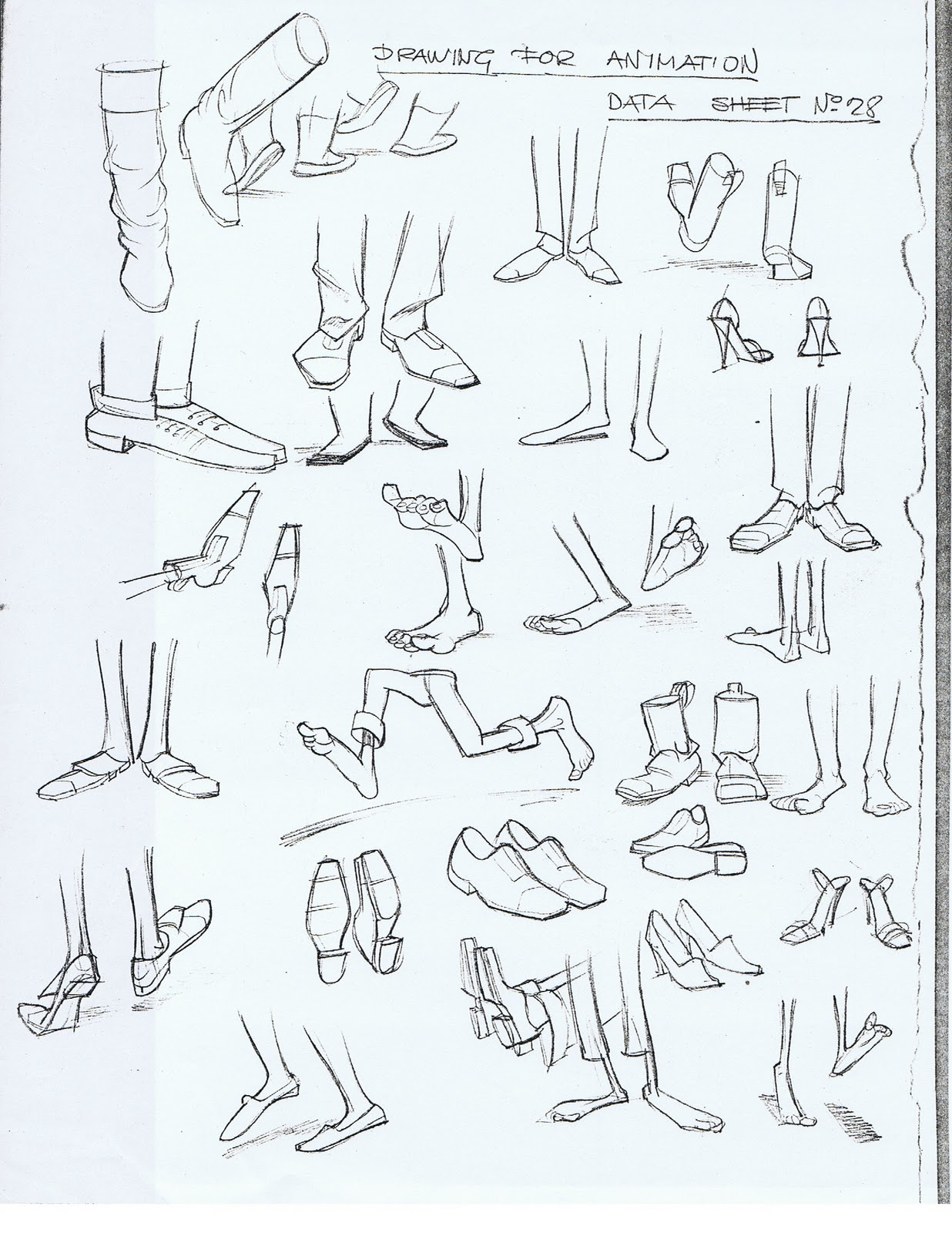 Drawn shoe foot Notes: and Reference Reference Creature