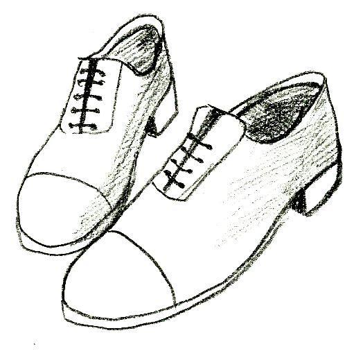 Drawn shoe footwear #1