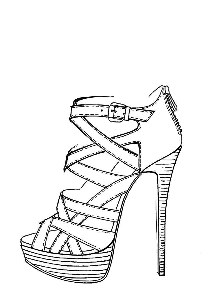Drawn shoe footwear #6