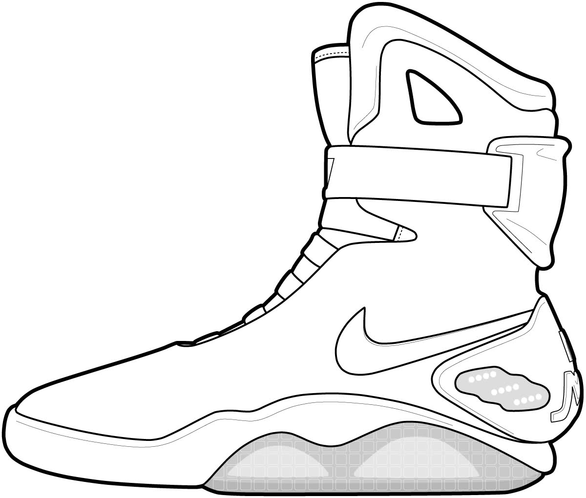 Drawn converse side view Drawing curry shoes image step