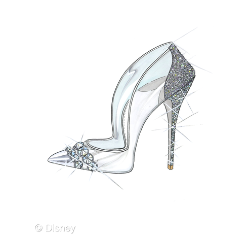 Drawn shoe glass slipper #9