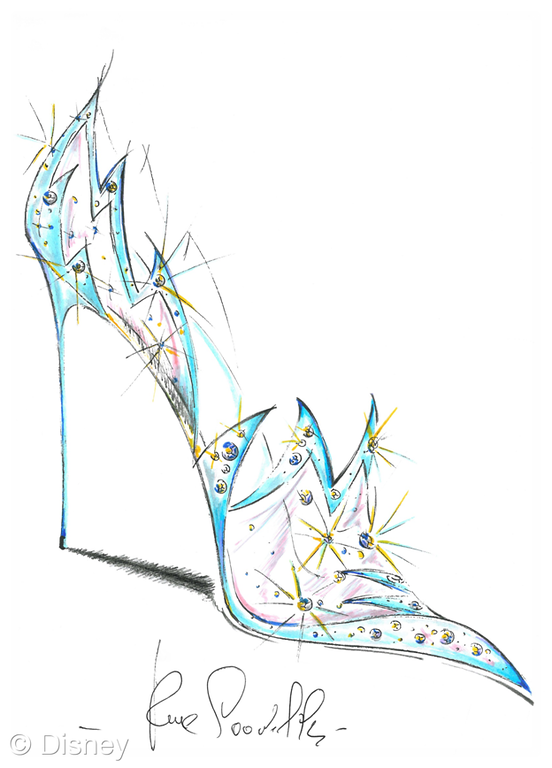 Drawn shoe glass slipper #12