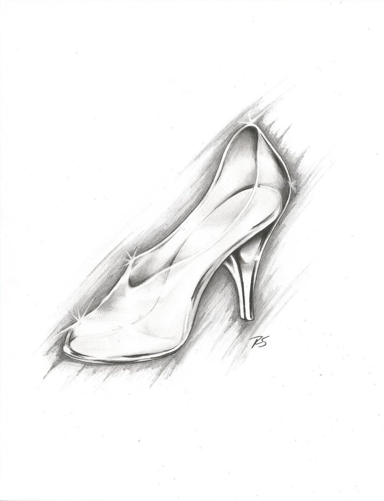 Drawn shoe glass slipper #6