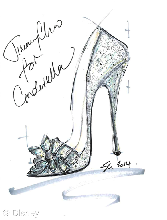 Drawn shoe glass slipper #7
