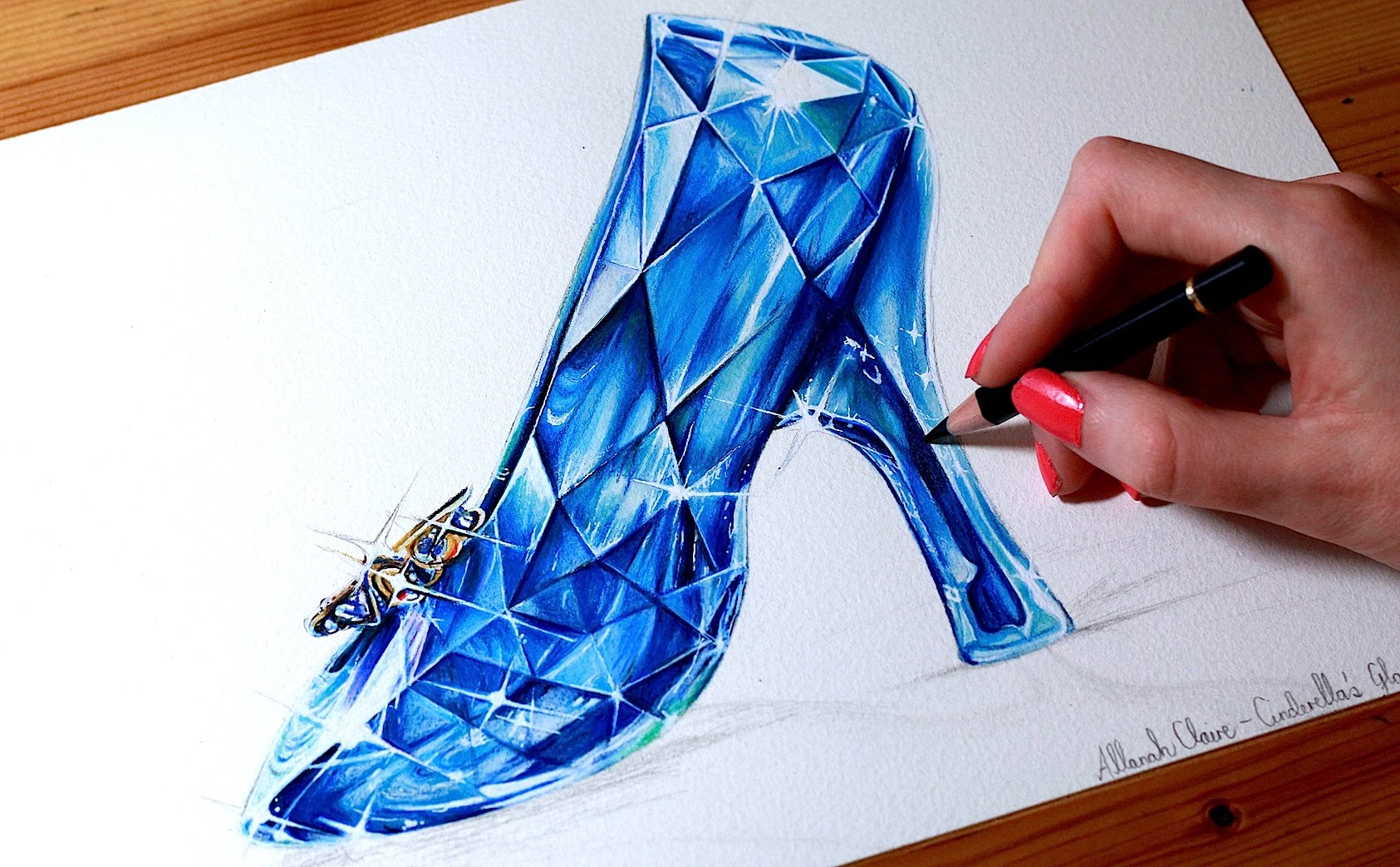Drawn shoe glass slipper #14