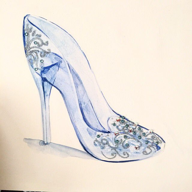 Drawn shoe glass slipper #3