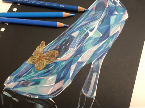 Drawn shoe glass slipper #2