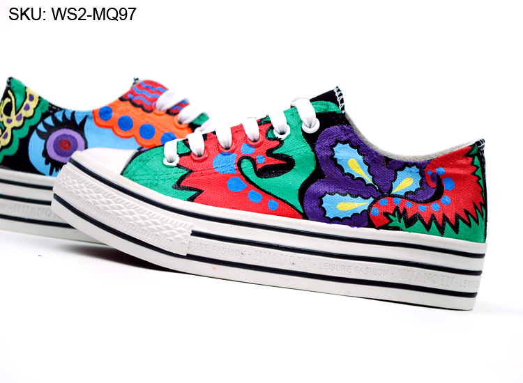 Drawn shoe hand painted Canvas Drawing Shoes Hand Custom