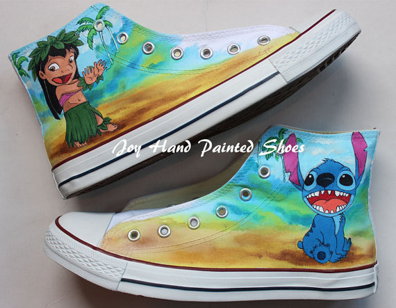 Drawn shoe hand painted Anime Shoes Taylor Hand