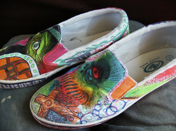 Drawn shoe have been By DeviantArt on drawn Hand