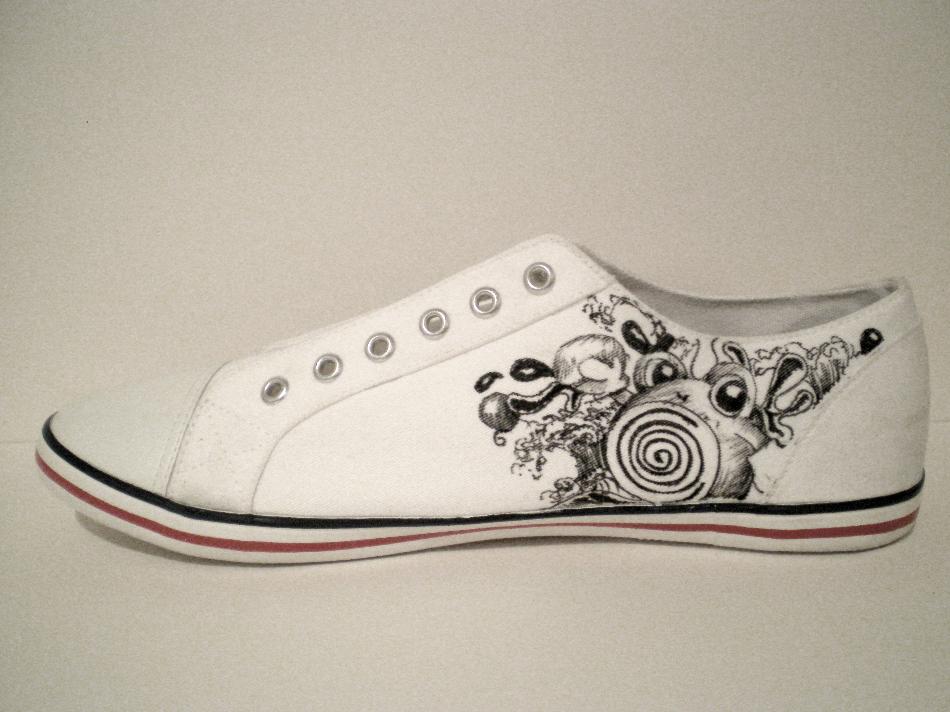 "Drawn shoe have been Shoes…""Lets  our Drawn Hand"