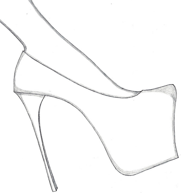 Drawn shoe high heel Free Design Shoes These Templates