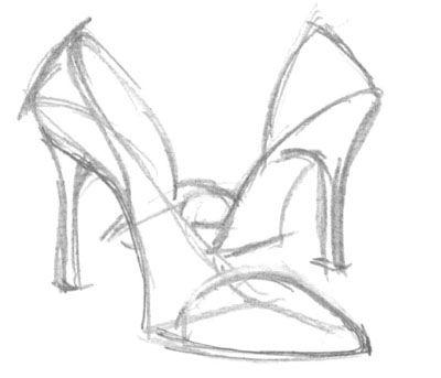 Drawn shoe high heel High How Draw Quarto Design