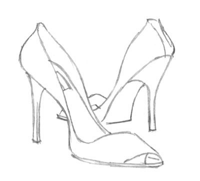 Drawn shoe high heel High How To Creates Fashion