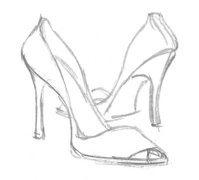 Drawn shoe high heel To To  Art how