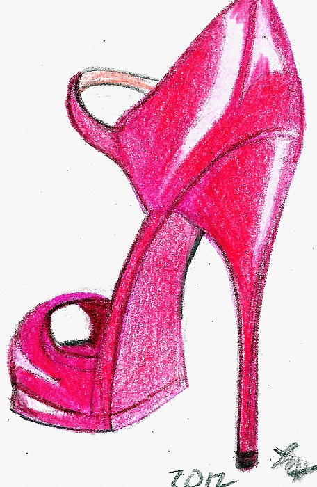 Drawn shoe high heeled shoe High on Red Pinterest about