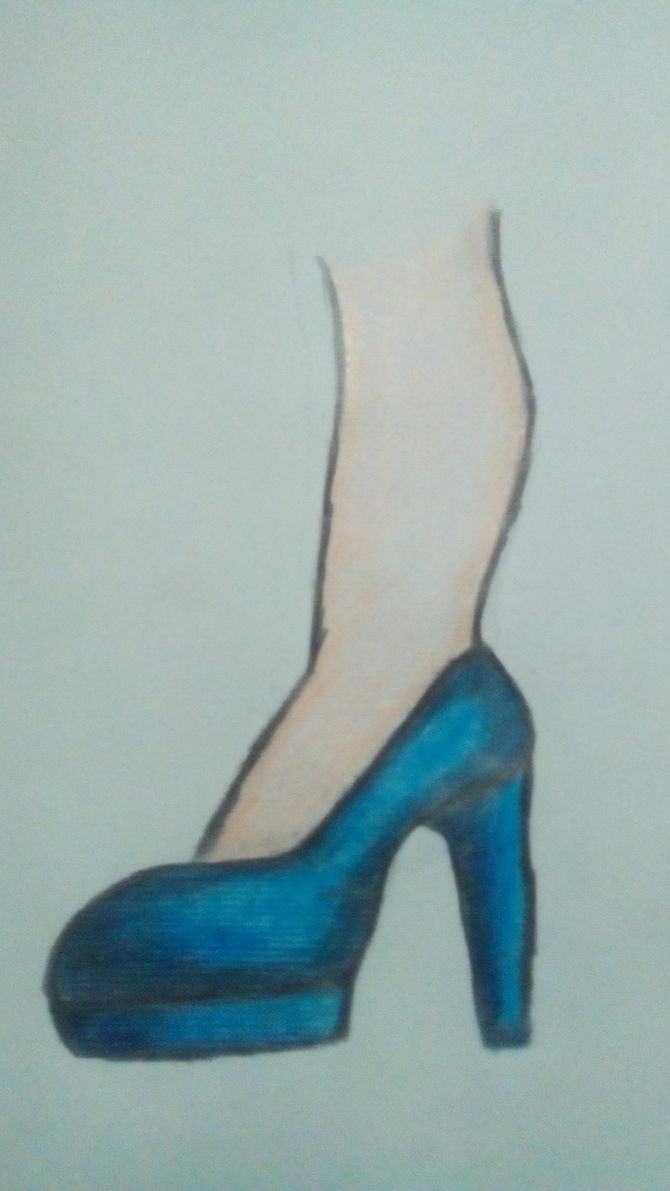 Drawn shoe high heeled shoe Ago Pictures) Uploaded wikiHow Steps
